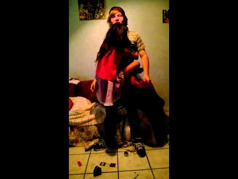 teen gets beat by little girl