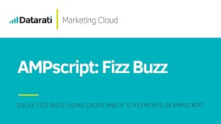 Solving the Fizz Buzz (AMPscript) in Salesforce Marketing Cloud