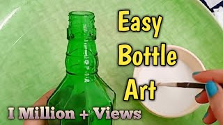 Glass Bottle Decoration Ideas /How To Paint And Decorate A Glass Bottle -Shaminas DIY