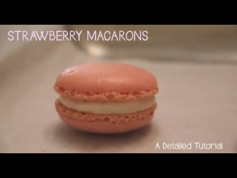 Strawberry Macarons - A Detailed Tutorial