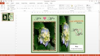 PowerPoint Training |How To Make Wedding Invitation Cards In Ms PowerPoint 2013