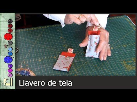 Cómo hacer un Llavero de Tela [Tutorial]