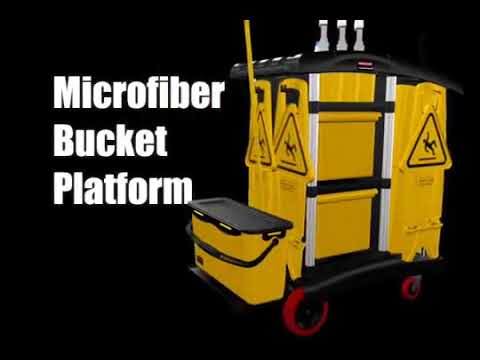 """Product video for [{""""languageId"""":6,""""languageCode"""":""""en-AU"""",""""propertyValue"""":""""Janitorial Cleaning Cart - High-Capacity""""}]"""