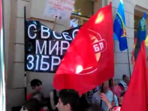 У стен Рады протестуют против рассмотрения во втором чтении проекта Трудового кодекса