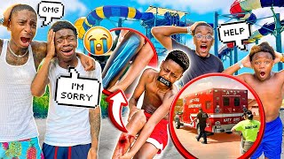 WE WENT TO THE WATERPARK & TYSON HAD TO GET RUSHED TO THE HOSPITAL!💔🚑