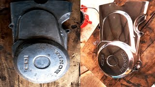 How to polish engine cover/crankcase | Honda TMX 155 - CAFE RACER PROJECT | PART 3