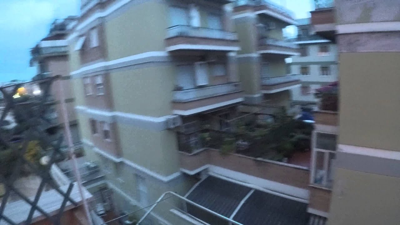 2 furnished rooms with balconies in 2 bedroom 1 bathroom apartment in Boccea - females only