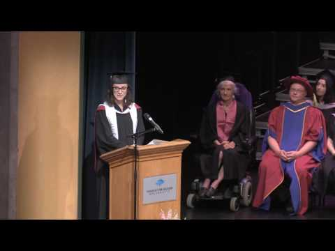 Rebecca Joanna Gourlay valedictorian speech June 6, 2017
