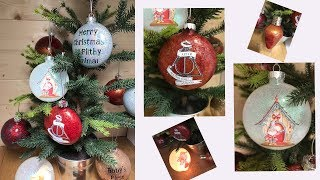 Decorating Christmas Baubles