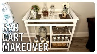 Old Changing Table Turned Bar Cart - Makeover