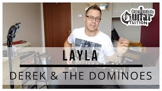How to play Layla by Derek and the Dominos (Eric Clapton) on guitar