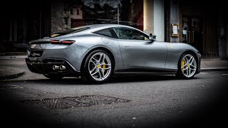 FIRST Ferrari Roma ENGINE SOUNDS and DRIVING in London!!