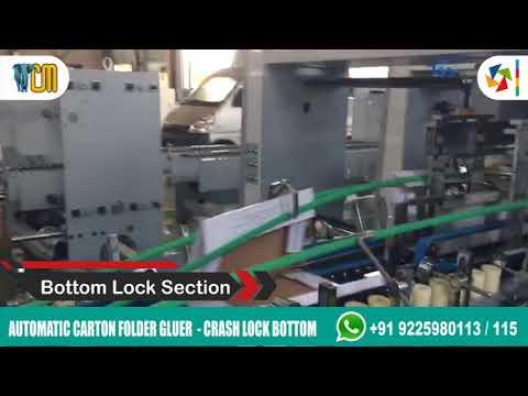 Automatic Carton Folder Gluer Lock Bottom