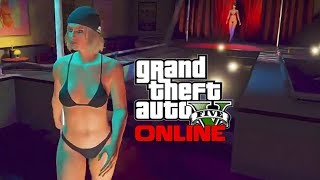 GTA 5 Online Multiplayer Ep.2 Working at the Strip Club - Life of an Exotic Dancer