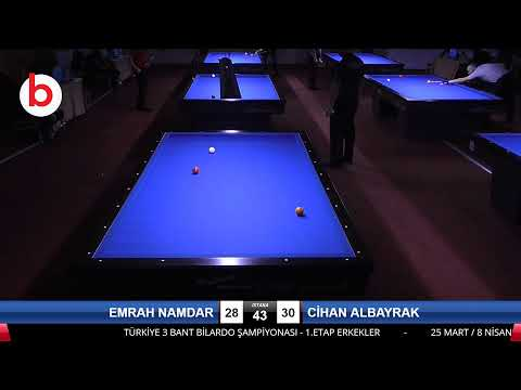 EMRAH NAMDAR & CİHAN ALBAYRAK Bilardo Maçı - 2021 1.ETAP ERKEKLER-6.TUR