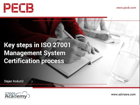 Key steps in ISO 27001 Management System Certification process ...