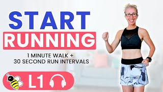 The BEST Way to Start RUNNING, 1000 STEPS Workout with Walk + Run Intervals