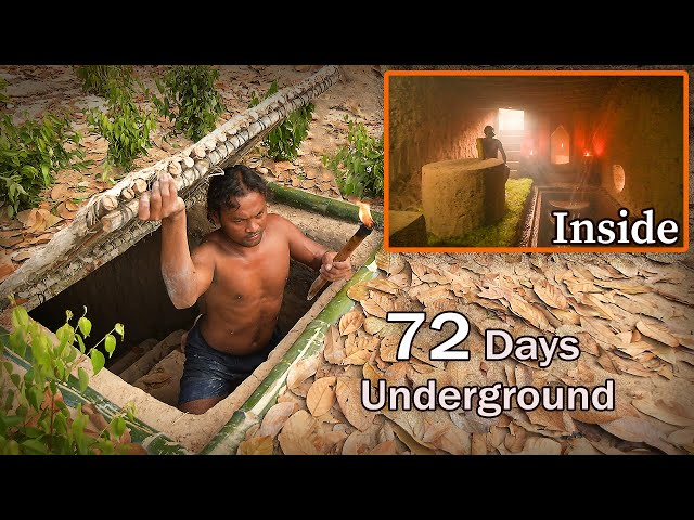 72 Days In Jungle & Building Hidden House - Full Video