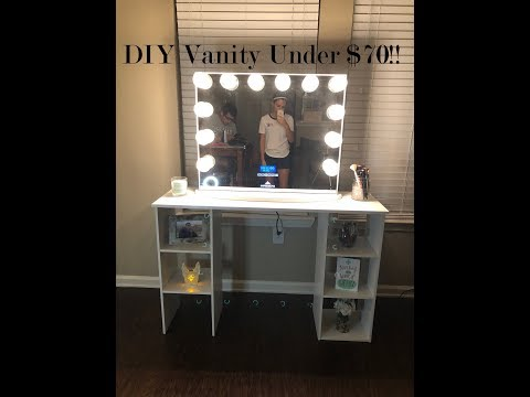 DIY Affordable Vanity Table for under $70!