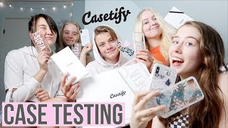 Testing Casetify Cases (ft. friends) | Phone Case Testing & Review