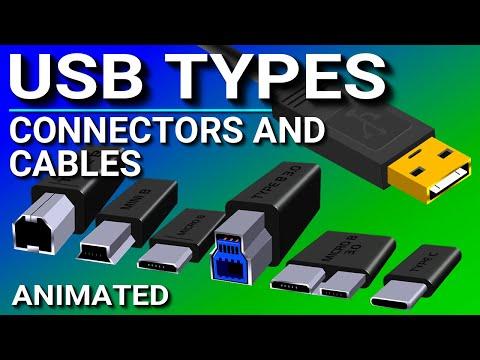 USB Ports, Cables, Types, & Connectors