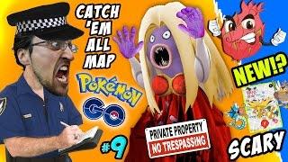 Pokemon Go TRESPASSING!! How To Catch 'Em All Map + Scary Jynx Encounter w/ FGTEEV Fam New Creature?