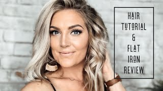 EASY MESSY CURLS USING A FLAT IRON  | NEW Flat Iron First Impressions