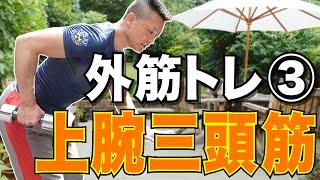 【中高年必見】屋外でもできる外筋トレ③!二の腕のトレーニング!