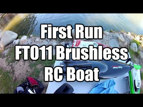 FT011 RC Brushless Boat First Run