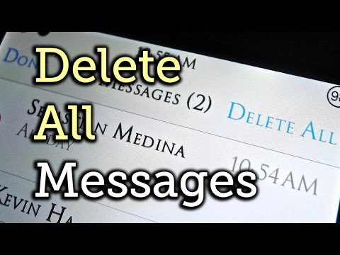 Delete All Messages In iOS At The Same Time