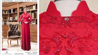 Mẫu áo dài cưới hỏi đẹp nhất hiện nay | Áo Dài Đỗ Trịnh Hoài Nam