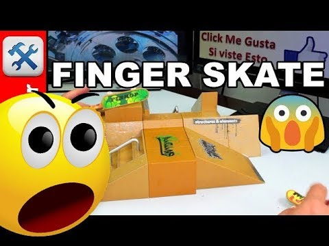 Mini Skate Para Dedos y Rampa para mini skate FINGER SKATE - Comoconfigurar