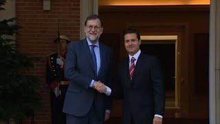 Spain's PM Rajoy meets with Mexican President Nieto in Madrid