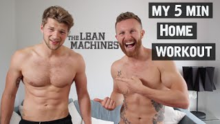 MY 5 MIN HOME WORKOUT - Chest & Arms #ad by TheLeanMachines