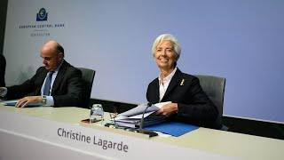 video: Davos: Merkel warns on climate change as Lagarde launches ECB review – live updates