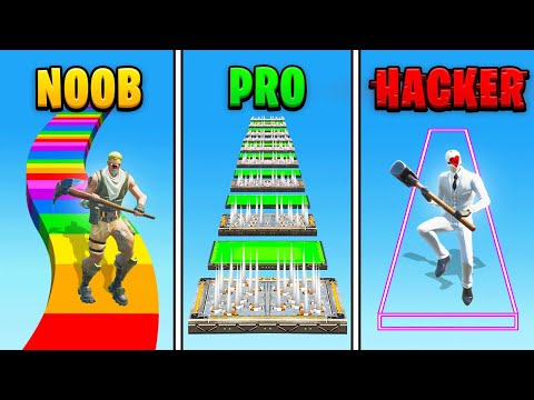 Fortnite NOOB vs PRO vs *HACKER*