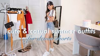 CUTE & CASUAL SUMMER OUTFIT IDEAS 🌞FOR HIGH WAISTED DENIM SHORTS