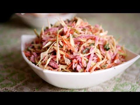 Свежий Сочный Салат к Сытному Блюду. Очень Вкусно!