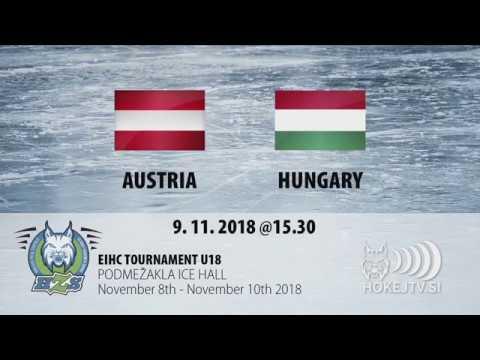 EIHC U18 Slovenia - AUT - HUN 0:4 highlights 20181109
