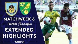 Burnley v. Norwich City | PREMIER LEAGUE HIGHLIGHTS | 9/21/19 | NBC Sports
