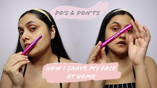 How To SHAVE FACE with a FACE SHAVER | Philips Norelco Precision Perfect Shaver Review | OGHJ