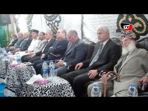 محافظ السويس وقيادات يقدمون واجب العزاء في شهيد «الواحات» أحمد شوشة