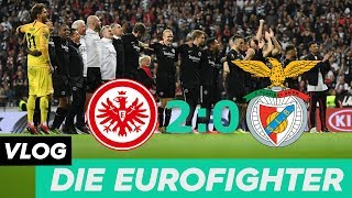 EINTRACHT FRANKFURT 2 - 0 BENFICA LISSABON! EINTRACHT STEHT IM HALBFINALE!