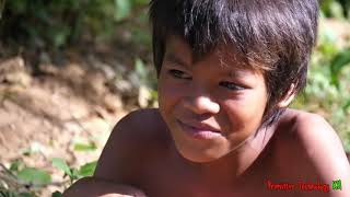 Primitive Technology - Eating delicious - Awesome cooking big fish #86