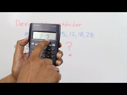 Desviación estándar con una calculadora