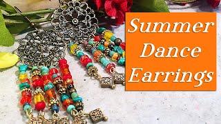 Summer Gypsy Earrings-Dangle Boho Jewelry Tutorial