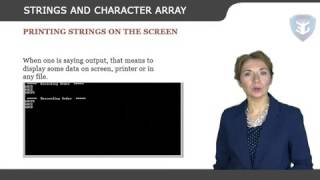 STRINGS AND CHARACTER ARRAY