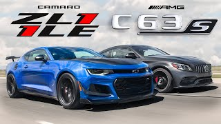 2020 Chevy Camaro ZL1 1LE Vs Mercedes-AMG C63S Coupe - American Muscle Vs German Muscle