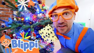Blippi Decorates The Christmas Tree | Educational Videos For Kids