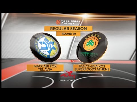 EuroLeague Highlights RS Round 30: Maccabi FOX Tel Aviv 61-81 Panathinaikos Superfoods Athens